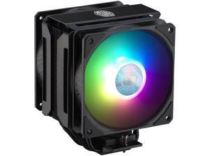 Cooler Master MasterAir MA612 Stealth ARGB CPU Air Cooler, 6 Heat Pipes, Nickel Plated Base, Aluminum Black Fins, Push-Pull, Dual SickleFlow Fans for AMD Ryzen/Intel 1200/1151