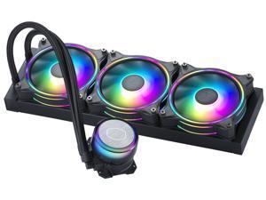 CoolerMaster MasterLiquid ML360 Illusion, Translucent Dome, 3rd Gen Dual Chamber Pump, 240 Radiator, Dual MF120 Halo for AMD Ryzen/Intel 1200/1151 Close-Loop AIO CPU Liquid Cooler