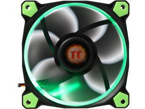 Thermaltake Riing 12 Series High Static Pressure 120mm Circular Green LED Ring Case/Radiator Fan CL-F038-PL12GR-A