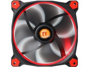 Thermaltake Riing 14 Series High Static Pressure 140mm Circular Red LED Ring Case/Radiator Fan CL-F039-PL14RE-A