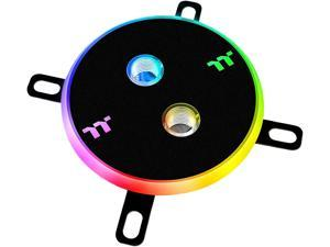 Thermaltake Pacific DIY LCS W4 Plus (Alexa, Razer Chroma) Software Enabled Circular 12 Controllable LED RGB CPU Water Block CL-W181-CU00SW-A