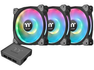 Thermaltake Riing Duo 14 LED RGB Radiator Fan TT Premium Edition (3-Fan Pack) CL-F078-PL14SW-A 140mm RGB LED Case Fan