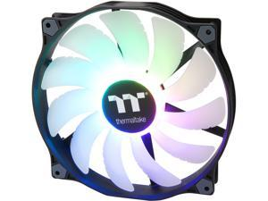 Thermaltake Pure 20 ARGB 5V Motherboard Sync/Analog Controller TT Premium Edition 16.8 Million Colors 9 Addressable LEDs 200mm Hydraulic Bearing PWM CaseFan, Single Pack CL-F081-PL20SW-A