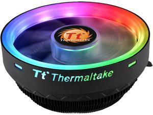 Thermaltake UX100 5V Motherboard Sync High Airflow Hydraulic Bearing ARGB Lighting CPU Cooler