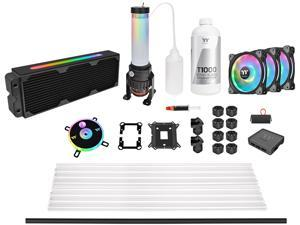 Thermaltake Pacific CL360 Max D5 Res/Pump 16.8 Million Color RGB (Alexa, Razer Chroma) Software Enabled Copper Radiator PETG Hard Tube Water Cooling Kit CL-W259-CU00SW-A