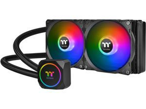 Thermaltake TH240 ARGB Motherboard Sync Edition Intel/AMD All-in-One Liquid Cooling System 240mm High Efficiency Radiator CPU Cooler, CL-W286-PL12SW-A