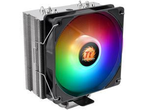 Thermaltake UX210 5V Motherboard ARGB Sync 16.8 Million Colors 10 Addressable LED Intel/AMD Universal Socket Copper Base U-Shape Heatpipes Hydraulic Bearing 150W CPU Cooler CL-P079-CA12SW-A