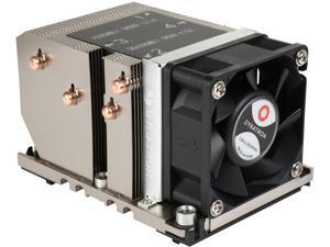 Dynatron B5 Intel Socket FCLGA3647 Narrow ILM 60x60x25mm PWM Fan, Aluminum Heatsink with Heatpipe embedded for 2U Server up to CPU power 205 Watts CPU Cooler