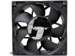 Bgears b-Blaster 140x38mm 2 ball bearing High Speed 5200RPM at 308CFM, 12Volts DC fan, Black