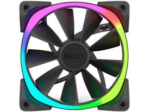NZXT RF-AR140-B1 140mm RGB LED Aer RGB140 Advanced RGB LED PWM Fan for HUE+ (HUE+ is required to function and sold separately.)