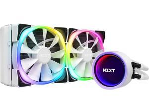 NZXT Kraken X53 RGB 240mm WHITE - RL-KRX53-RW - AIO RGB CPU Liquid Cooler - Rotating Infinity Mirror Design - Improved Pump - Powered By CAM V4 - RGB Connector - 2 x Aer P120 120mm Radiator Fans White