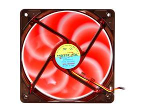 MASSCOOL BLD-12025V1R 120mm 4 Red LEDs LED Case Fan