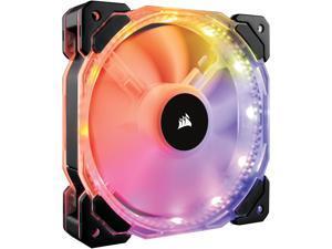 Corsair HD Series, HD120 RGB LED, 120mm High Performance Individually Addressable RGB LED PWM Case Fan (CO-9050066-WW)