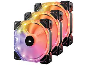Corsair HD Series, HD120 RGB LED, 120mm High Performance Individually Addressable RGB LED PWM Case Fan (CO-9050067-WW) 3-pack