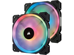 Corsair LL Series CO-9050074-WW LL140 RGB, 140mm Dual Light Loop RGB LED PWM Fan, 2 Fan Pack with Lighting Node PRO