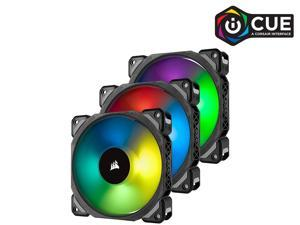 CORSAIR ML120 PRO RGB, 120mm Premium Magnetic Levitation RGB LED PWM Fan, CO-9050076-WW. 3-Pack with Lighting Node PRO.