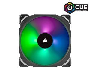 CORSAIR ML140 PRO RGB, 140mm Premium Magnetic Levitation RGB LED PWM Fan, CO-9050078-WW. 2-Pack with Lighting Node PRO.