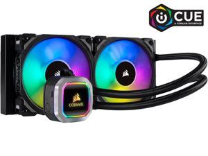 CORSAIR Hydro Series, H100i RGB PLATINUM, 240mm, 2 X ML PRO 120mm RGB PWM Fans, RGB Lighting & Fan Control w/ Software, Liquid CPU Cooler. CW-9060039-WW. Support: Intel 1200 2066, AMD AM4, TR4.