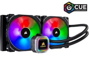 CORSAIR Hydro Series, H115i RGB PLATINUM, 280mm, 2 x ML PRO 140mm RGB PWM Fans, RGB Lighting & Fan Control w/ Software, Liquid CPU Cooler. CW-9060038-WW. Support: Intel 1200, 2066, AMD AM4, TR4.