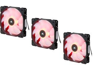Corsair AF Series AF120 LED (2018) CO-9050083-WW 120mm Red LED Case Fan, 3-Pack.