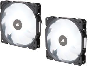 Corsair AF Series AF140 LED (2018) CO-9050088-WW 140mm White LED Case Fan, 2-Pack