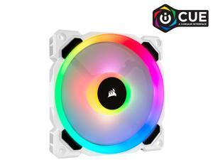 Corsair LL Series CO-9050091-WW LL120 RGB, 120mm Dual Light Loop RGB LED PWM Fan, Single Pack, White.