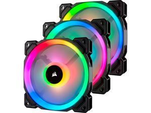 Corsair LL Series CO-9050072-WW/RF LL120 RGB, 120mm Dual Light Loop RGB LED PWM Fan, 3 Fan Pack with Lighting Node PRO. Refurbished.