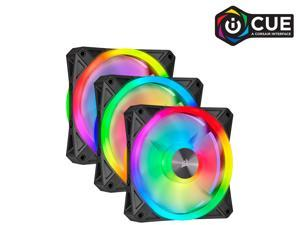CORSAIR QL Series, iCUE QL120 RGB, 120mm RGB LED Fan, Triple Pack with Lighting Node CORE, CO-9050098-WW
