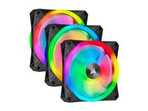 CORSAIR QL Series, iCUE QL120 RGB, 120mm RGB LED Fan, Triple Pack with Lighting Node CORE, CO-9050098-WW