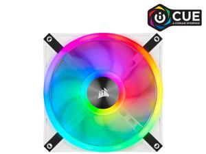 CORSAIR QL Series, iCUE QL140 RGB, 140mm RGB LED PWM White Fan, Single Fan - CO-9050105-WW