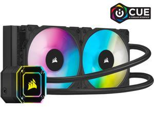 Corsair Hydro Series, iCUE H100i ELITE CAPELLIX, 240mm Radiator, Dual ML120 RGB PWM Fans, Powerful iCUE Software, Liquid CPU Cooler, CW-9060046-WW