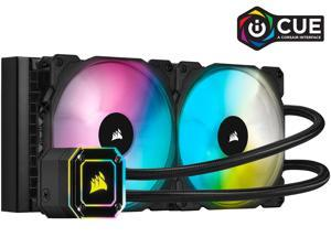 Corsair Hydro Series, iCUE H115i ELITE CAPELLIX, 280mm Radiator, Dual ML140 RGB PWM Fans, Powerful iCUE Software, Liquid CPU Cooler, CW-9060047-WW