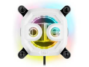 CORSAIR Hydro X Series XC7 RGB CPU Water Block (1200/AM4) - Nickel-Plated Copper Cold Plate - White - More Than 60 Micro-Cooling Fins - 16 Individually Addressable RGB LEDs