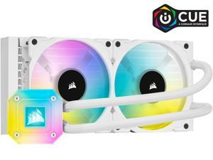 CORSAIR iCUE H100i ELITE CAPELLIX WHITE, 240mm Radiator, Liquid CPU Cooler, White, CW-9060050-WW