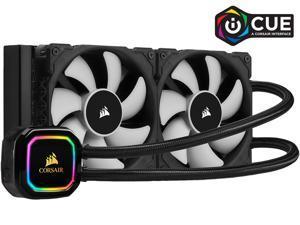 CORSAIR iCUE H100i RGB PRO XT CW-9060043-WW/RF 240mm Radiator, Dual 120mm PWM Fans, Software Control, Liquid CPU Cooler