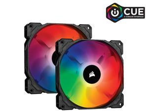CORSAIR SP Series, SP140 RGB PRO, 140mm RGB LED Fan, Dual Pack with Lighting Node CORE, CO-9050096-WW/RF