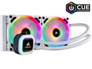 Corsair Hydro Series, H100i RGB PLATINUM SE, 240mm Radiator, Dual LL120 RGB PWM Fans, Advanced RGB Lighting and Fan Control with Software, Liquid CPU Cooler, CW-9060042-WW/RF
