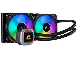 CORSAIR Hydro Series, H100i RGB PLATINUM, 240mm, 2 x ML PRO 120mm RGB PWM Fans, RGB Lighting & Fan Control w/ Software, Liquid CPU Cooler, Support Intel 1200/ 2066, AMD AM4/ TR4, CW-9060039-WW/RF