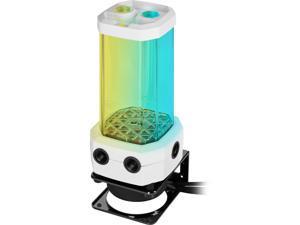 CORSAIR Hydro X Series XD5 RGB Pump/Reservoir Combo - White - D5 PWM Pump - 330ml Reservoir - Ten Individually Addressable RGB LEDs - Temperature Sensor