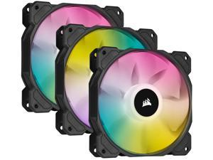 CORSAIR iCUE SP120 RGB ELITE Performance 120mm PWM Triple Fan Kit with iCUE Lighting Node CORE, CO-9050109-WW