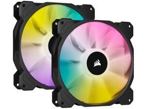 CORSAIR iCUE SP140 RGB ELITE Performance 140mm PWM Dual Fan Kit with Lighting Node CORE, CO-9050111-WW
