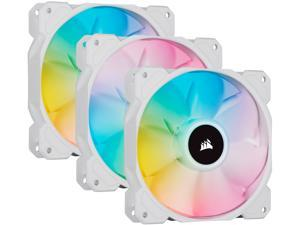CORSAIR iCUE SP120 RGB ELITE Performance 120mm White PWM Triple Fan Kit with iCUE Lighting Node