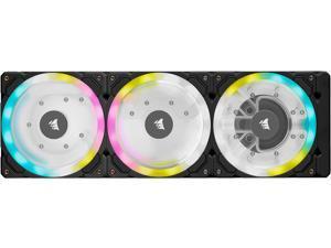 CORSAIR Hydro X Series XD7 RGB Pump/Reservoir Combo - 360mm Distribution Plate System - D5 PWM Pump - 140ml Reservoir - 36 Individually Addressable RGB LEDs - Temperature Sensor