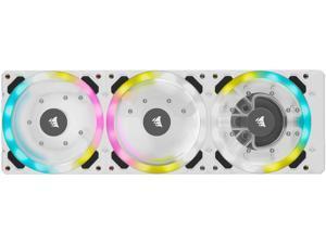 CORSAIR Hydro X Series XD7 RGB Pump/Reservoir Combo - White - 360mm Distribution Plate System - D5 PWM Pump - 140ml Reservoir - 36 Individually Addressable RGB LEDs - Temperature Sensor
