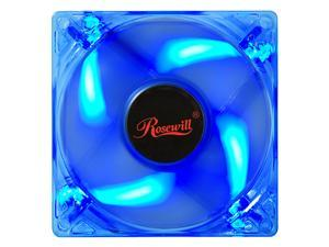 80mm Computer Case Cooling Fan LP4 Adapter LED Blue Rosewill