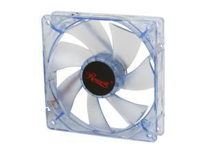120mm Computer Case Cooling Fan LP4 Adapter Blue LED  Silent Rosewill