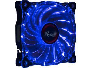 Rosewill RFA-120-WL - 120mm CULLINAN Computer Case Cooling Fan with LP4 Adapter - Semi-Transparent Frame & Blue LED Lights, Sleeve Bearing, Silent