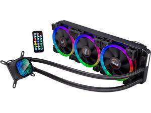 Rosewill PB360-RGB RGB CPU Liquid Cooler, Closed Loop PC Water Cooling, Quiet Three 120mm RGB Fans, Connect to the RGB hub which is supporting additional RGB Fans expansion with RGB Synchronization