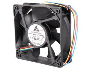 Delta AFB1212HHE PWM Cooling Fan, 2900 RPM, 120 CFM, 44 dBA, 120x120x38mm, Dual Ball Bearing, PWM connection for Smart Fan Speed Control