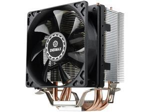 Enermax ETS-N31 Compact-size design CPU Cooler 130W+ TDP for Intel/AMD, 3 Direct Contact Heat Pipes, 92mm Fan, Black/Silver, ETS-N31-02